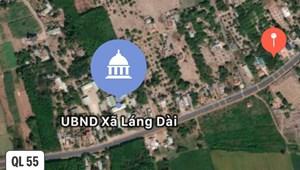 Bán đất mặt tiền QL55 đi Hồ Tràm, Bình Châu