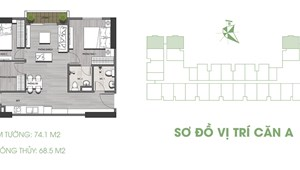 Sang nhượng gói nội thất tân cổ điển căn hộ 2PN 64m2 Ecolife Riverside