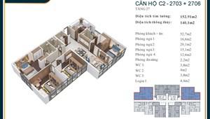 Bán Căn Penthouse View Trọn Hồ Tây 4 PN, 153 m2 D'.EL DORADO Tân Hoàng Minh