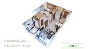 Kẹt tiền mùa Covid bán nhanh căn 2PN 64m2 giá chỉ từ 20tr/m2 Ecolife