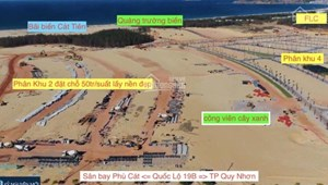 Đất biển Nhơn Hội New City chỉ 1,49 tỷ rổ hàng View Biển