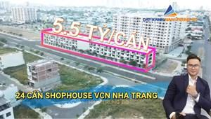 Mở bán 24 căn Shophouse Nha Trang thuộc Khu đô thị VCN Phước Long 2 - chiết khấu 3% GTSP