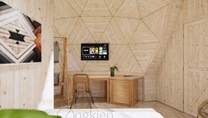 Nhà gỗ lắp ghép (bungalow ốc sên OS5M)
